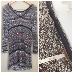 Free People | Multi Color Knit Cutout Back sweater